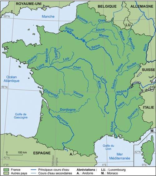 fleuves de france et affluents